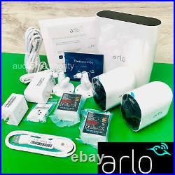 2 Pk Arlo Ultra 2 HDR 4K Add-On Security Camera w Smart Hub Base Station VMC5040