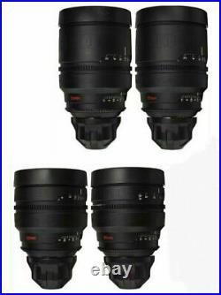 4x RED PRO PRIMES 25 35 50 85 T1.8 Lens Set with ARRI PL Arriflex Mount RPP