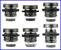 6x CANON FD Silver Nose 24 28 35 55 100 135 Lens Set / CINE-MODDED & SERVICED