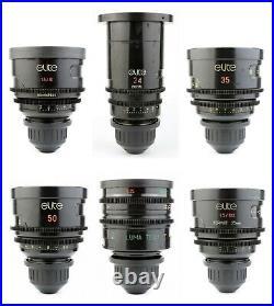 @ 6x Optica ELITE / ILLUMINA 16 24 35 50 85 100 lens set with ARRI PL Mount LOMO @