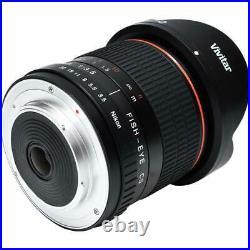 8mm Ultra-Wide f/3.5 Fisheye Lens for Canon Rebel T6 T6i T6s T7i 70D 80D SL2 77D