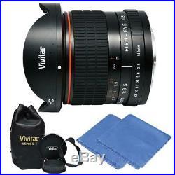8mm Ultra-Wide f/3.5 Fisheye Lens for Nikon D3400 D3500 D5500 D5600 D7200 D7100