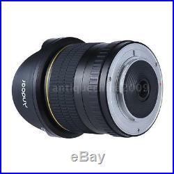 8mm f/3.5 170° HD Ultra Wide Angle Aspherical Fisheye Lens for Nikon DSLR Camera