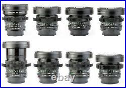8x CANON FD 20 24 28 35 50 85 100 135 Lens Set / CINE-MODDED / SERVICED