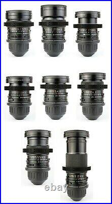 8x MAMIYA 645 35 45 55 70 80 110 150 210 Lens Set with ARRI PL Mount / SEKOR'C