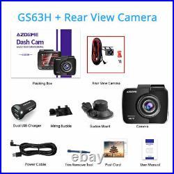 AZDOME Car Dash Cam 4K Ultra HD 2160P Built-In WiFi & GPS + VGA Rear Camera