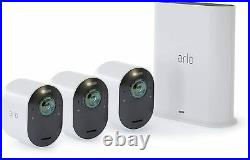 Arlo VMS5340-100NAR Ultra 4K UHD Wire-Free 3 Camera System Certified Refurbished