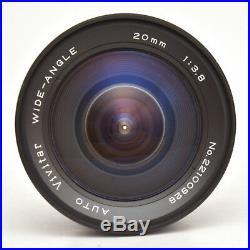 Auto Vivitar Wide-Angle 20mm F3.8 Lens For Konica AR Mount! Good Condition
