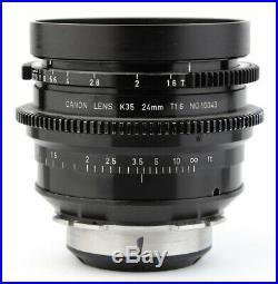 @ CANON K-35 K35 24 24mm T1.6 LENS CASING with ARRI Arriflex PL Mount @