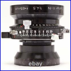 Caltar II-N 65mm f/4.5 Ultra-Wide 4x5 COVERAGE RODENSTOCK DESIGN 105º FOV