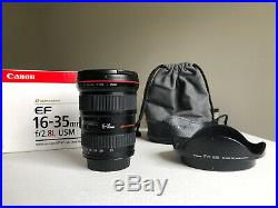 Canon EF 16-35 mm f/2.8 L USM Lens EXC COND