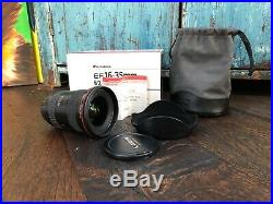 Canon EF 16-35mm f/2.8 L II USM Lens, excellent condition and lightly used