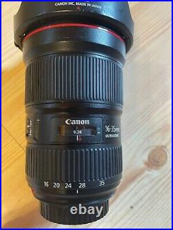 Canon EF 16-35mm f/2.8 L III USM Lens Works perfectly with lens shade/filter