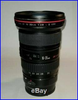 Canon EF 16-35mm f/2.8 ii L USM Lens plus EF to E-mount adapter