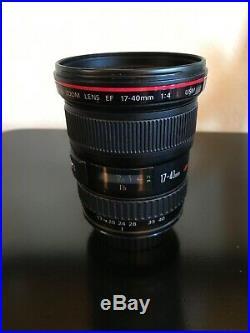 Canon EF 17-40 mm f/4 L USM Lens Black 8806A002 Kit- see pictures