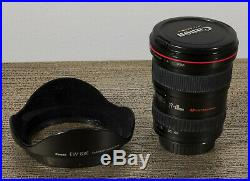 Canon EF 17-40 mm f/4 L USM Lens Black with Hood Included