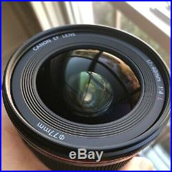 Canon EF 17-40 mm f/4 L USM Lens With Lens Hood Excellent Condition Low Use
