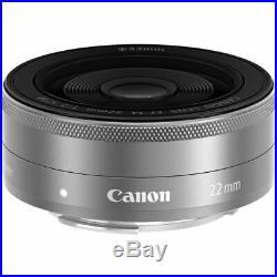 Canon EF-M 22mm f/2 STM Lens (Silver) 9808002 White Box