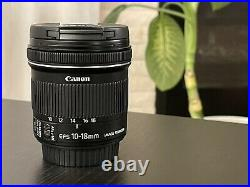 Canon EF-S 10-18mm F/4.5-5.6 IS Image Stabilized STM Ultra Wide LensFLAWLESS