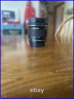 Canon EF-S 10-18mm f/4.5-5.6 AF IS STM Lens (GREAT WIDE PHOTOS)