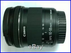 Canon EF-S 10-18mm f/4.5-5.6 IS STM Lens EF-S10-18ISSTM for EOS APS-C DSLR
