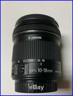 Canon EF-S 10-18mm f/4.5-5.6 IS STM Lens MINT