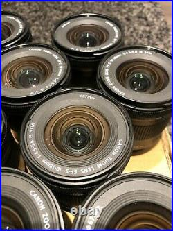 Canon EF-S 10-18mm f/4.5-5.6 IS STM Lens, Ultrawide, Close Up, Cleaned, Tested