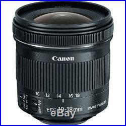 Canon EF-S 10-18mm f/4.5-5.6 IS STM Lens for Canon DSLR Cameras NEW