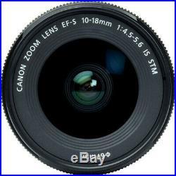 Canon EF-S 10-18mm f/4.5-5.6 IS STM Tulip Hood Lens UV Filter Bundle