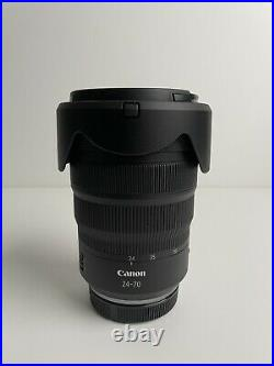 Canon RF 24-70mm F2.8 L IS USM Withbox, Lens Hood, Sack- (READ Description)