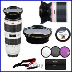 FISHEYE LENS + MACRO + FILTER KIT FOR Canon EF 70-200mm f/2.8L IS III USM Lens