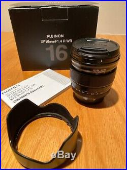 FUJIFILM Fujinon XF16mm F/1.4 R, MINT Condition, Box + Manual