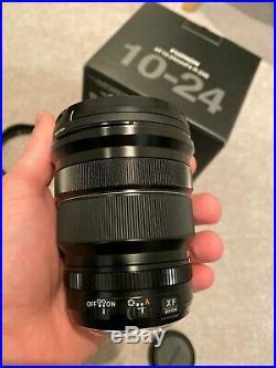 Fujifilm Fujinon XF 10-24mm f/4 R OIS Lens uv filter, hood, box etc