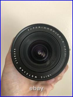 LEICA LEITZ SUPER-ANGULON-R 21mm f/4 3CAM Manual Focus Lens (R Mount)