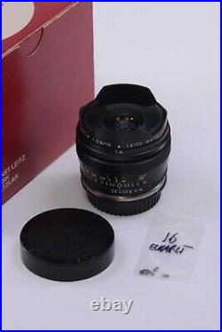 LEITZ Leica Fisheye-Elmarit-R 16mm/F2.8 Lens Leitax Canon EF mount