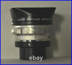 LEITZ Wetzler Super-Angulon M 21mm/F3.4 Lens SBKOO 21mm Finder Lens Hood Caps