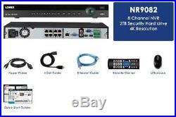 Lorex 4K Ultra HD NR900 Series NR9082 8 Channel 2TB NVR with 8 Ports