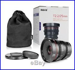 Meike 25mm T2.2 MF Prime Cine Lens for Panasonic Olympus BMPCC Camera MFT M4/3