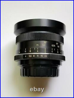 Near Mint Carl Zeiss Distagon HFT 18mm f/4 lens for Rollei SL2000 / SL35, QBM