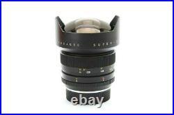 Near Mint Leica 15mm f3.5 Super Elmar-R 3 Cam Lens with Case & Box #32369