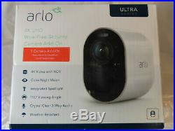New Arlo Ultra Indoor Outdoor 4k Hdr Add-on Wire Free Camera Vmc5040-100nas