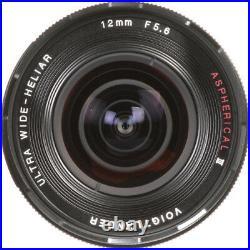New Voigtlander Ultra Wide-Heliar 12mm f/5.6 Aspherical III Lens SONY E Mount