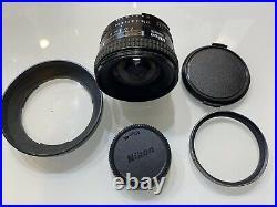 Nikon AF Nikkor 20 mm 12.8 Ultra Wide Angle Lens Made In Japan