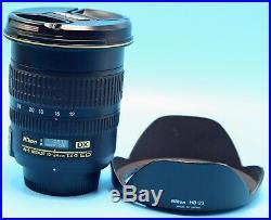 Nikon AF-S DX 12-24mm f/4.0D AF DX Camera Lens Exc+++++WithCaps & Hood