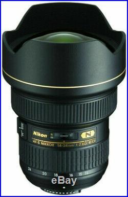 Nikon AF-S NIKKOR 14-24 mm f/2.8G ED Lens Black very nice used condition