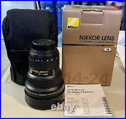 Nikon AF-S NIKKOR 14-24mm F/2.8G Ultra Wide Angle Lens, Used Very Good Condition