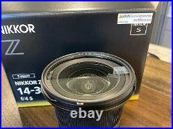 Nikon NIKKOR Z 14-30mm f/4 S Camera Lens with brand new B+W XS-Pro Clear filter