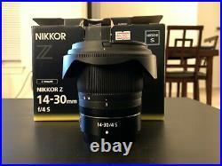 Nikon NIKKOR Z 14-30mm f/4 S Ultra-Wide Wide Zoom Lens