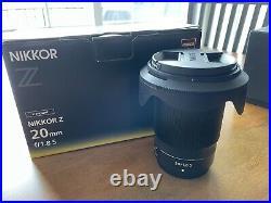 Nikon Nikkor Z 20mm f/1.8 S Lens NEVER USED