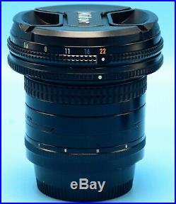 Nikon PC NIKKOR 28mm f/3.5 Lens EXc+++++++++WithCaps Case & Filter